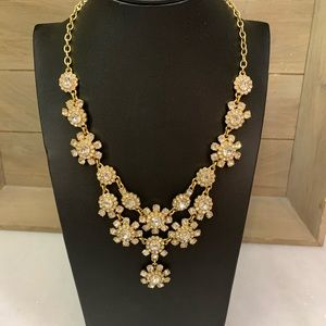 J Crew Large Rhinestone Statement Necklace
